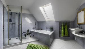 Installation baignoire d'angle dans les combles