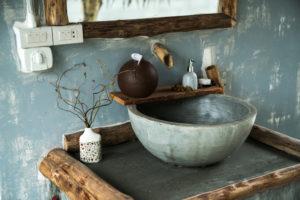 Lavabo vasque en béton