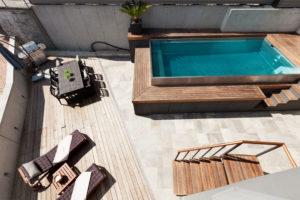 Prix piscine semi-enterrée
