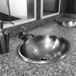 Vasque encastrée en inox