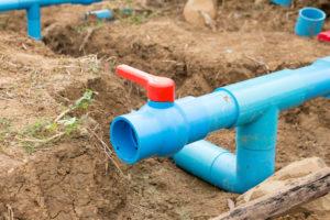 Mise en place des canalisations assainissement individuel