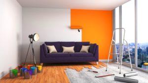 Peinture pour salon : prix au m² et exemples de réalisations