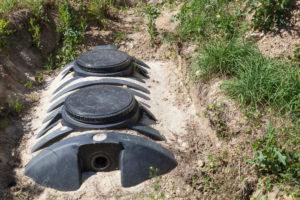 Prix assainissement et fosse septique enterré