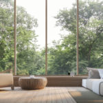 baie vitree bois