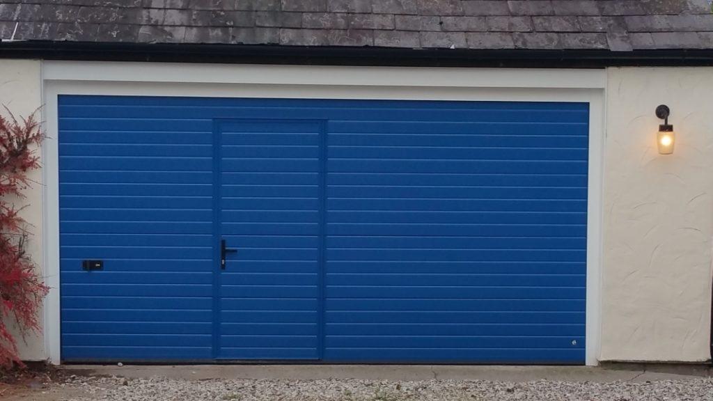 Porte de garage avec portillon tarif porte de garage avec for Tarif pose porte de garage