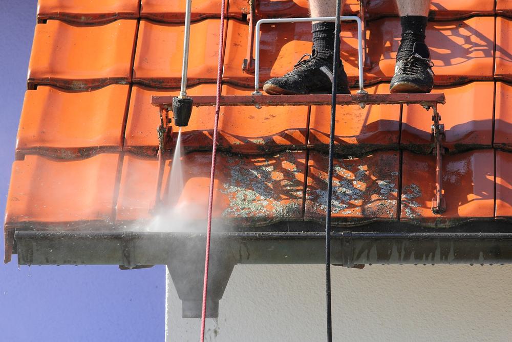 Professionnel de nettoyage toiture