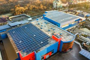 construction bâtiment industriel panneau solaire